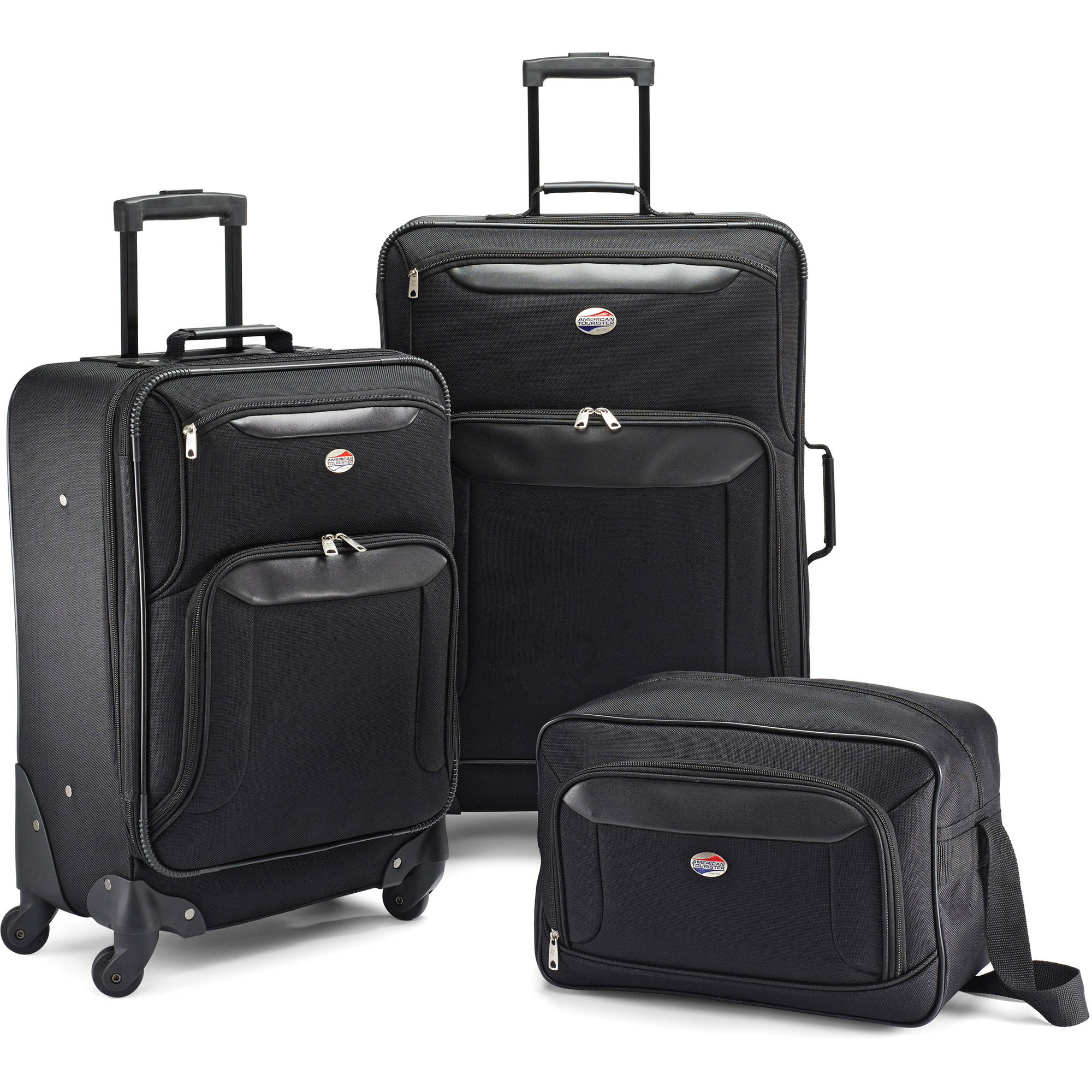 American Tourister Brookfield Black Spinner Set, 3-Piece