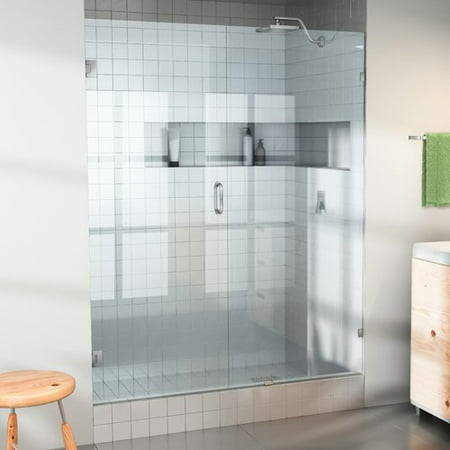 Glass Warehouse 35'' x 78'' Hinged Frameless Shower (Warehouse Glasses)