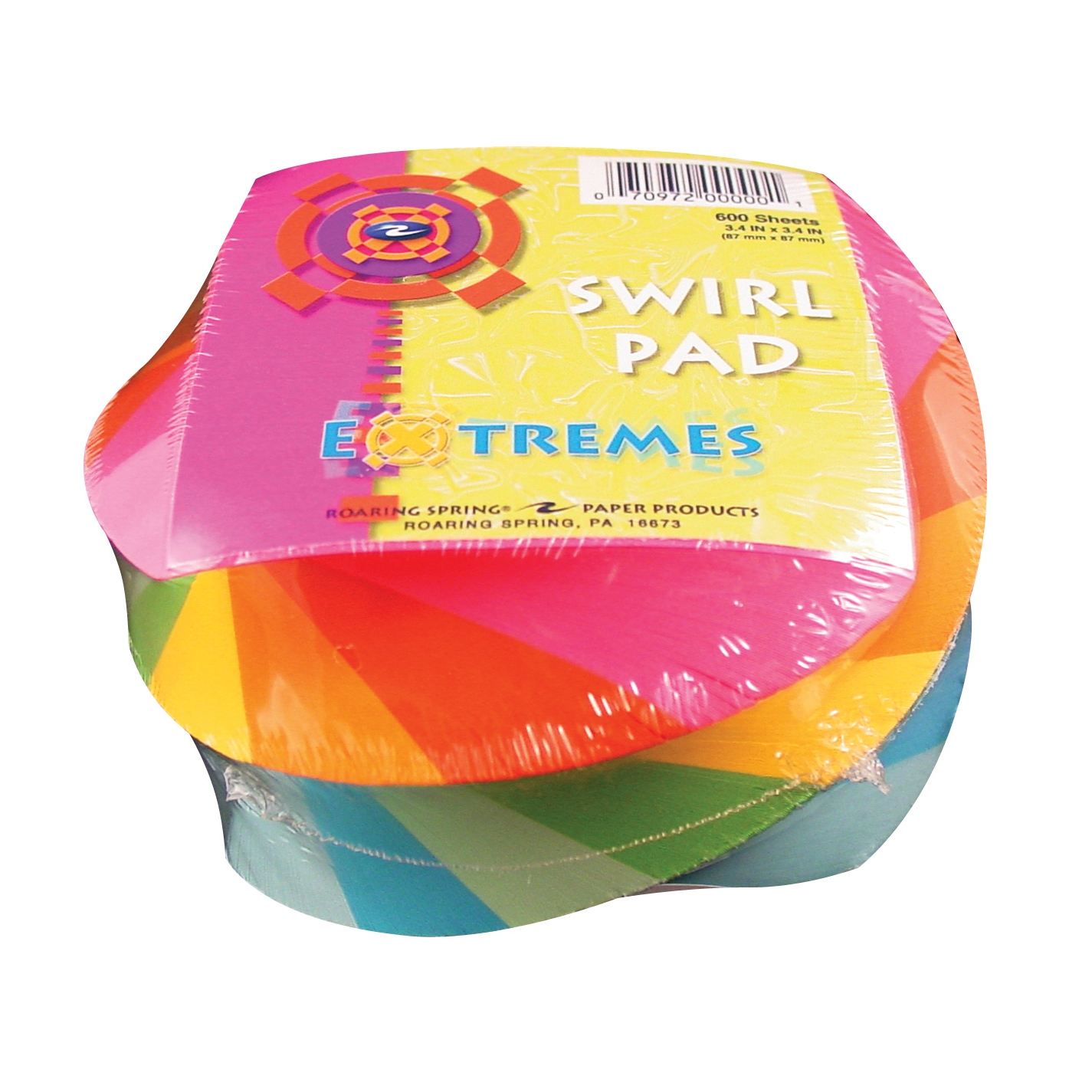 "EXTREMES SWIRL PAD 3.5""x3.5"" ASST PAPER"