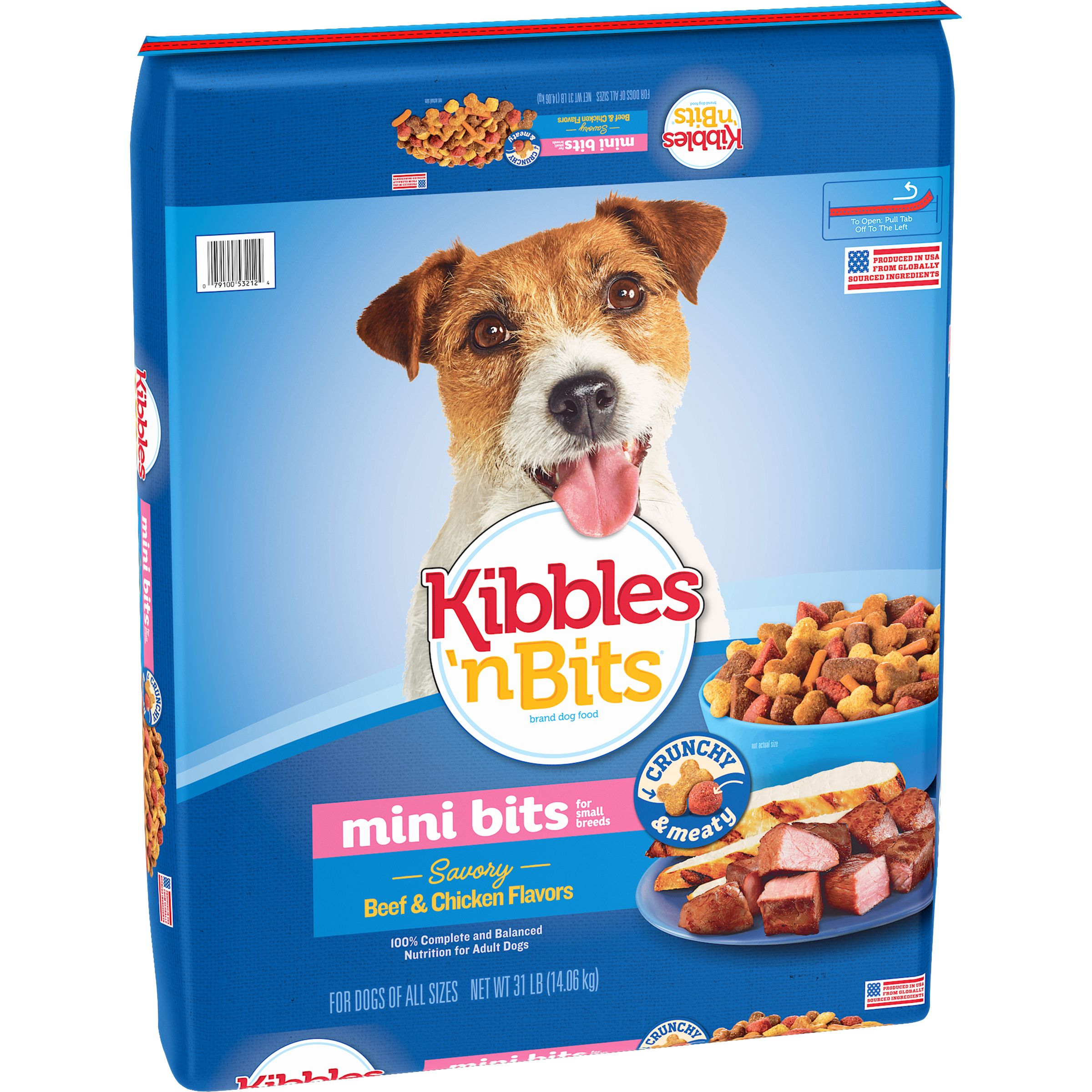 Kibbles 'n Bits Small Breed Mini Bits Savory Beef and Chicken Flavors Dog Food, 31-Pound by The J.M. Smucker Company