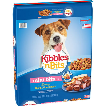 Kibbles 'n Bits Small Breed Mini Bits Savory Beef and Chicken Flavors Dog Food, 31-Pound - Savory Halloween Finger Foods