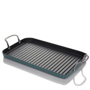 Curtis Stone DuraPan Nonstick Double-Burner Grill Pan with 10 Recipe Cards - Refurbished