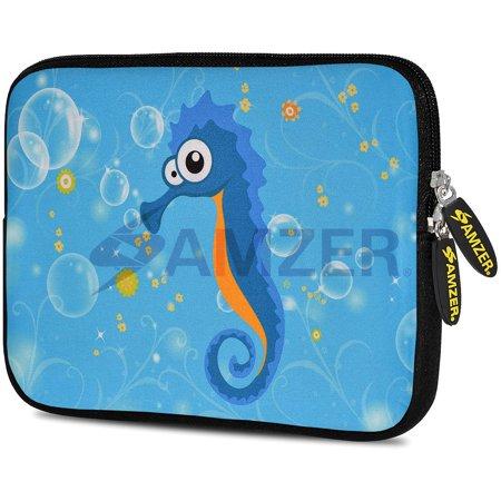 Designer 10.5 Inch Soft Neoprene Sleeve Case Pouch for Samsung Galaxy Tab A 10.1 2016, Tab 4 10.1, LG G Pad X 10.1, ASUS ZenPad Z300M 10.1, Fire HD 10 Tablet - Sea (Lg G Pad Vs Samsung Tab E)