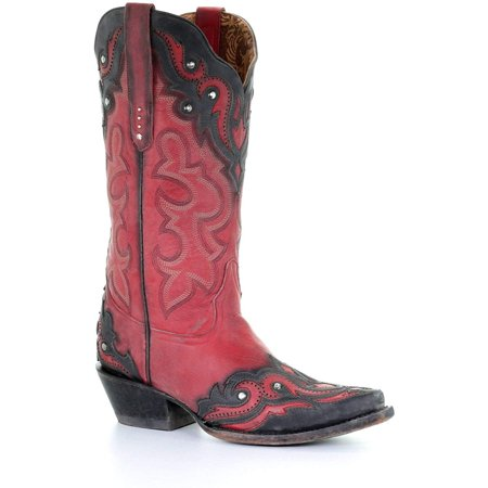 CORRAL Women's Western Snip Toe Cowhide Boots G1462 (7.5 M US) Cow Western Boots