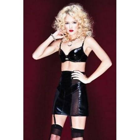 High Waist Garter Skirt D9259 Coquette Black