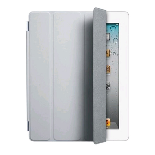 Original Apple iPad 2, 3, 4 Leather Smart Cover - Gray (MC939LL/A)