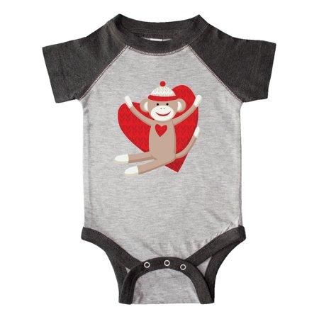 Hug Sock Monkey Infant Creeper](Sock Monkey Onesie Adults)