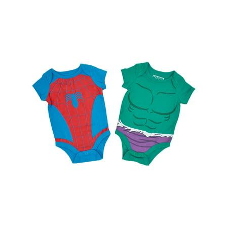 Baby Boys Spider-Man Hulk Costume Bodysuits 2-Piece - Hulk Onesie For Adults