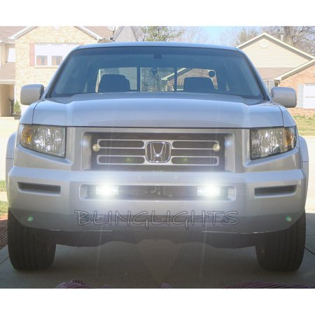 New 2006 2007 2008 Honda Ridgeline Xenon Grille Foglamps Foglights Fog Lamps Driving Lights Kit