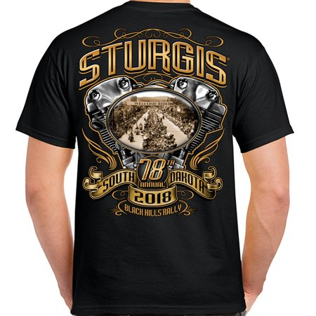 Biker Life 2018 Sturgis Black Hills Rally Main Street Engine T-Shirt