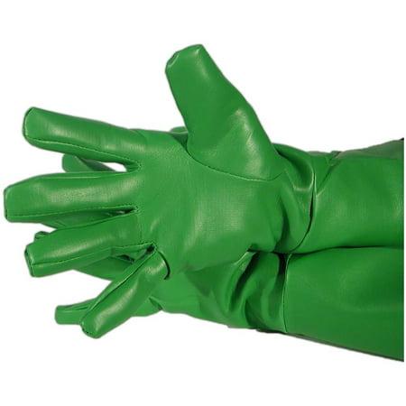 Green Lantern Halloween Bucket (Green Superhero Gloves PVC Oversized Aquaman Robin Lantern Comics)