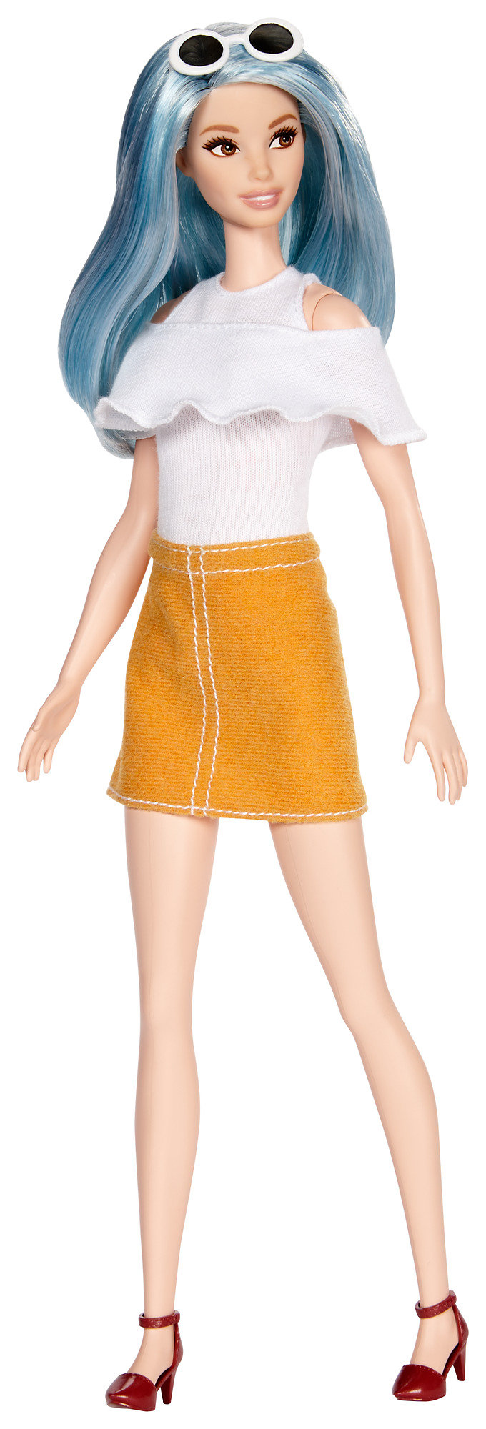 Barbie Fashionistas Blue Beauty, Tall Body Doll by Mattel