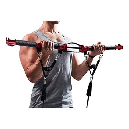 TENSION TONER - Patented Home Gym - Workout Your Muscles with Over 70 Different Full Body Exercises to Build Strength & Muscle Definition - Easy Storage for Home or Travel - Resistance (Best Gym Exercises For Muscle Gain)