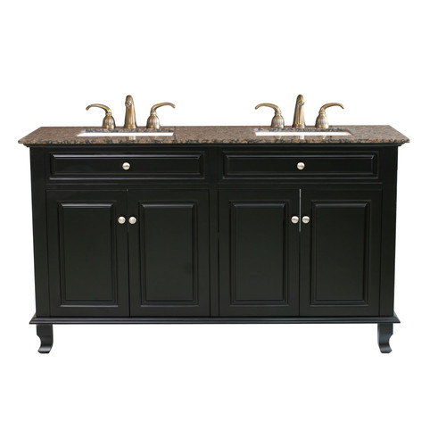 Bellaterra Home Lewis 62'' Double Bathroom Vanity Set