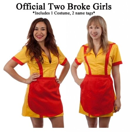 Diner Waitress Costume (2 Broke Girls Max and Caroline Diner Waitress)
