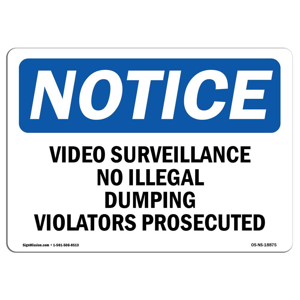 NS Notice This Property Is Protected By Electronic Surveillance OSHA Safety Sign