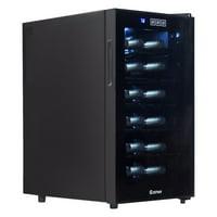 Goplus 18 Bottle Thermoelectric Wine Cooler Freestanding Temperature Display Glass Door