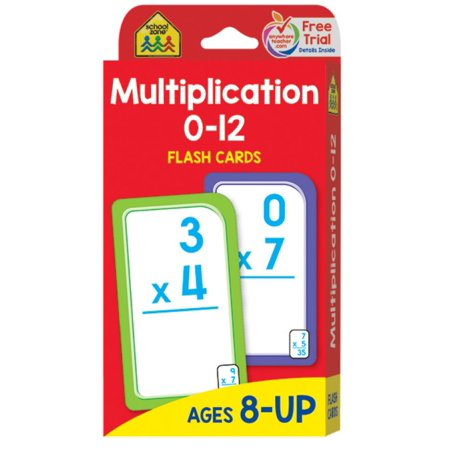 Flash Card: Multiplication 0 -12: Flashcards (Best Pharmacology Flash Cards Step 1)
