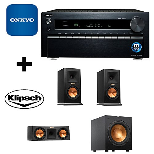 Onkyo TX-NR3030 11.2-Ch Dolby Atmos Ready Network A V Receiver w  HDMI 2.0 + Pair Klipsch Reference Premiere 150 Monitor by Electronics Expo