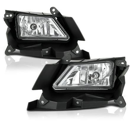 VIPMOTOZ Chrome Housing OE-Style Front Fog Light Driving Lamp Assembly For 2010-2011 Mazda 3, Driver & Passenger Side (Chrome Fog Light Lamp)