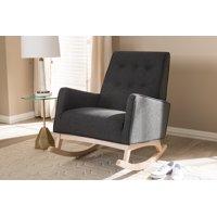 Baxton Studio Marlena Mid-Century Modern Rocking Chair