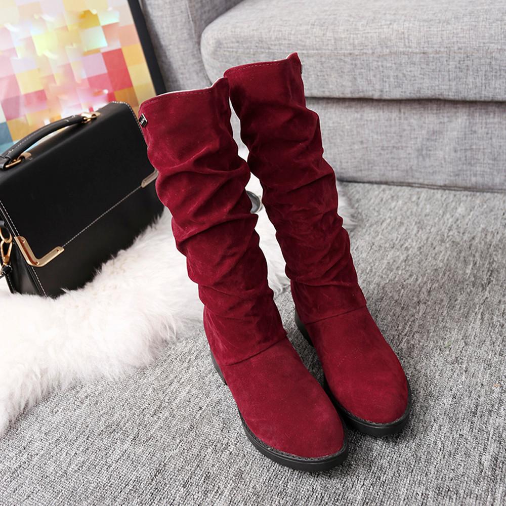 DZT1968 Autumn Winter Boots Women Sweet Boot Stylish Flat Flock Shoes Snow...