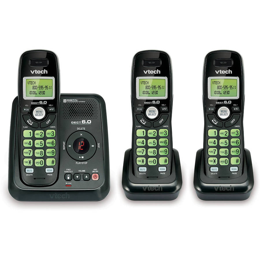 VTech CS6120-31 DECT 6.0 3 Handset Cordless Answering System with Caller ID/Call Waiting