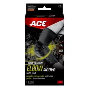 ACE Brand Compression Elbow Sleeve W/ Pad, L/XL, Breathable