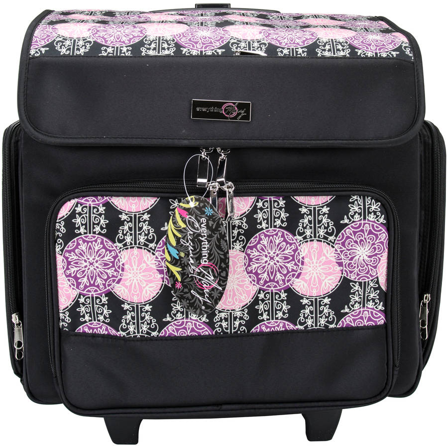 Everything Mary Rolling Scrapbook Tote, Purple/Pink