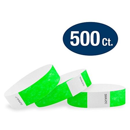 Tyvek Event Wristbands - WristCo Neon Green 3/4