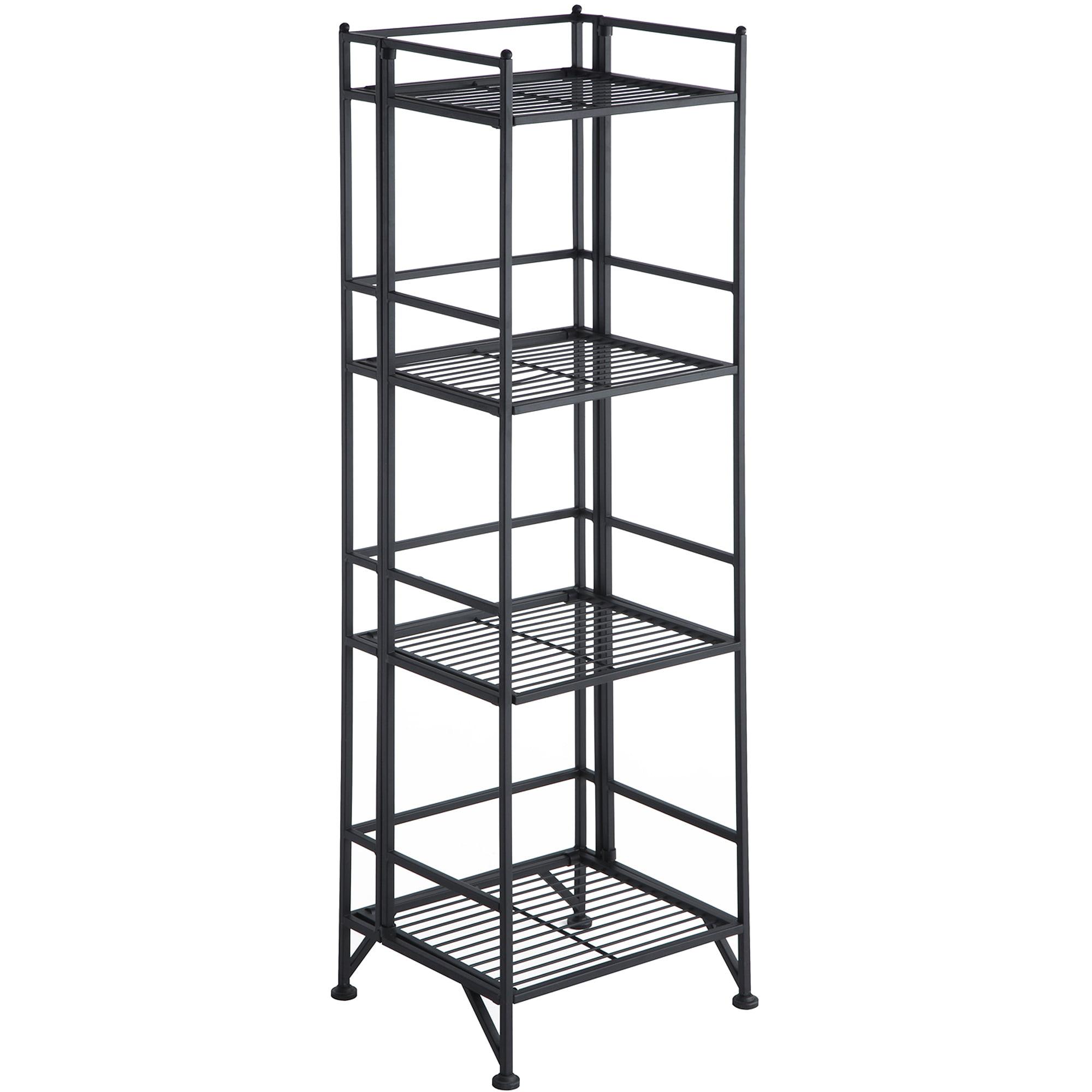 Convenience Concepts Designs2go Metal Folding 4 Shelf Bookcase Multiple Finishes
