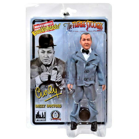 The Three Stooges Dizzy Doctors Curly Action Figure