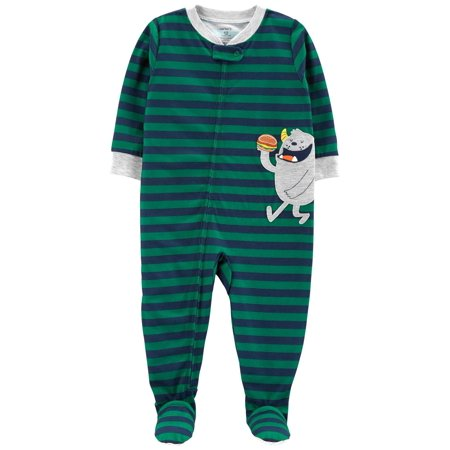 Carter's Baby Boys' 1-Piece Monster Poly PJs (Baby Masters Clothes)