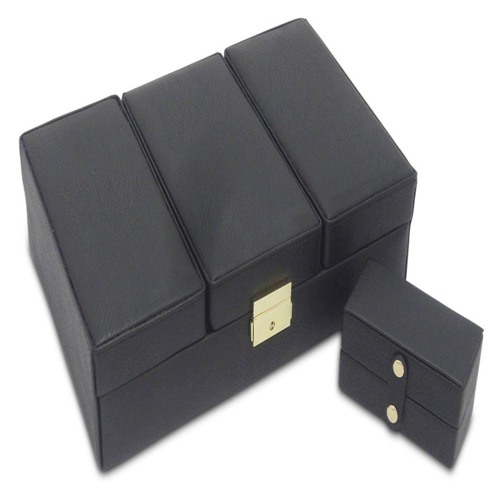 Morelle amp Co Sophia Large Leather Jewelry Box Walmartcom