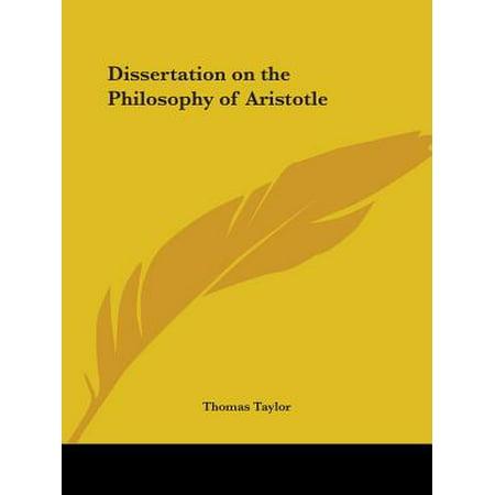 Dissertation philosophy aristotle