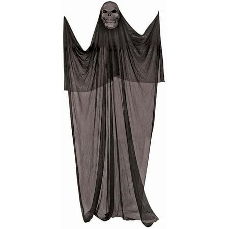 Spooky 5 Foot Hanging Halloween Décor, Black Skeleton - image 1 de 1