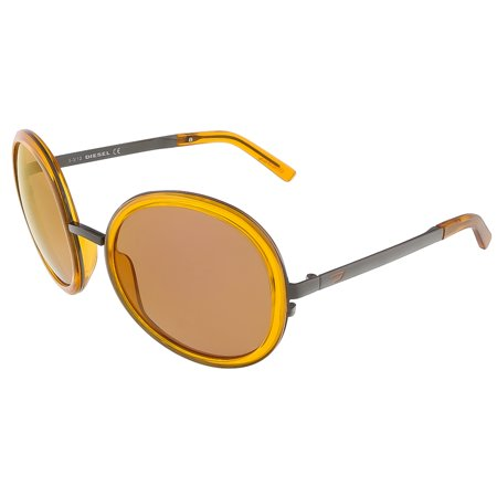 Diesel DL0069/S 42G Translucent Orange Round (Translucent Round Sunglasses)