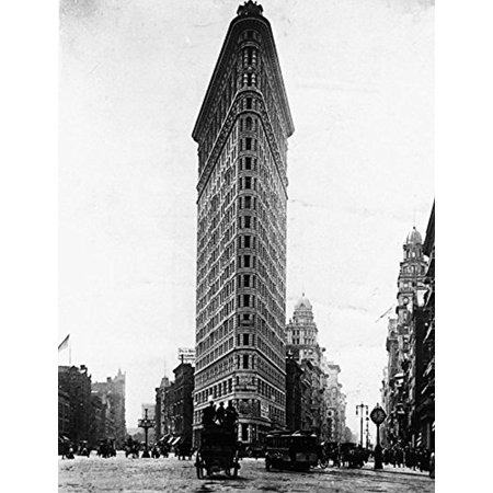 Flat Iron Building Turn of the Century Photograph 16x12 Art Print Poster