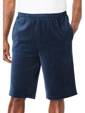 Kingsize Men's Big & Tall Velour Shorts