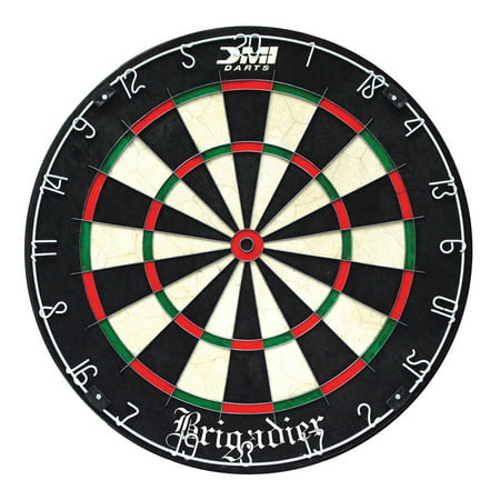 DMI Sports Brigadier Regulation-Size Staple-Free Bristle Dartboard with Staple-Free Wiring System and