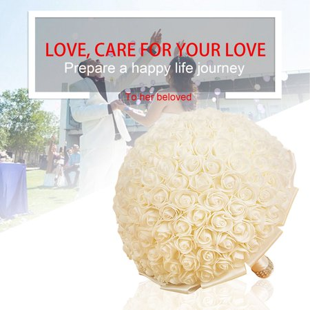 Portable wedding bride artificial flower rose silk flowers bouquet portable wedding bride artificial flower rose silk flowers bouquet flowers mightylinksfo