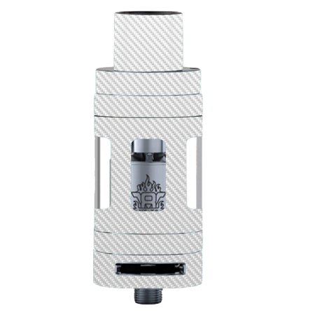 Skins Decals For Smok Tfv8 Tank Vape Mod   White Carbon Fiber Graphite