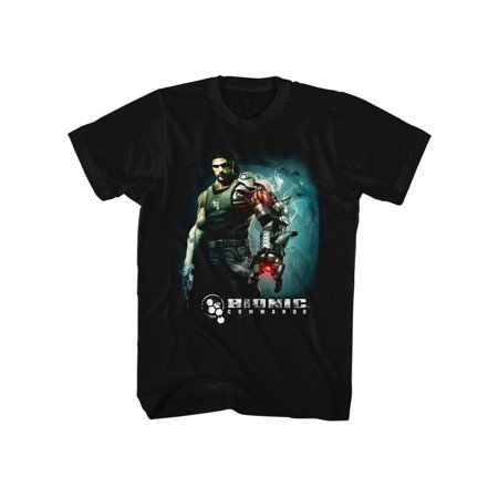 Bionic Commando Arcade Video Game Mechanical Robot Steam Arm Adult T-Shirt