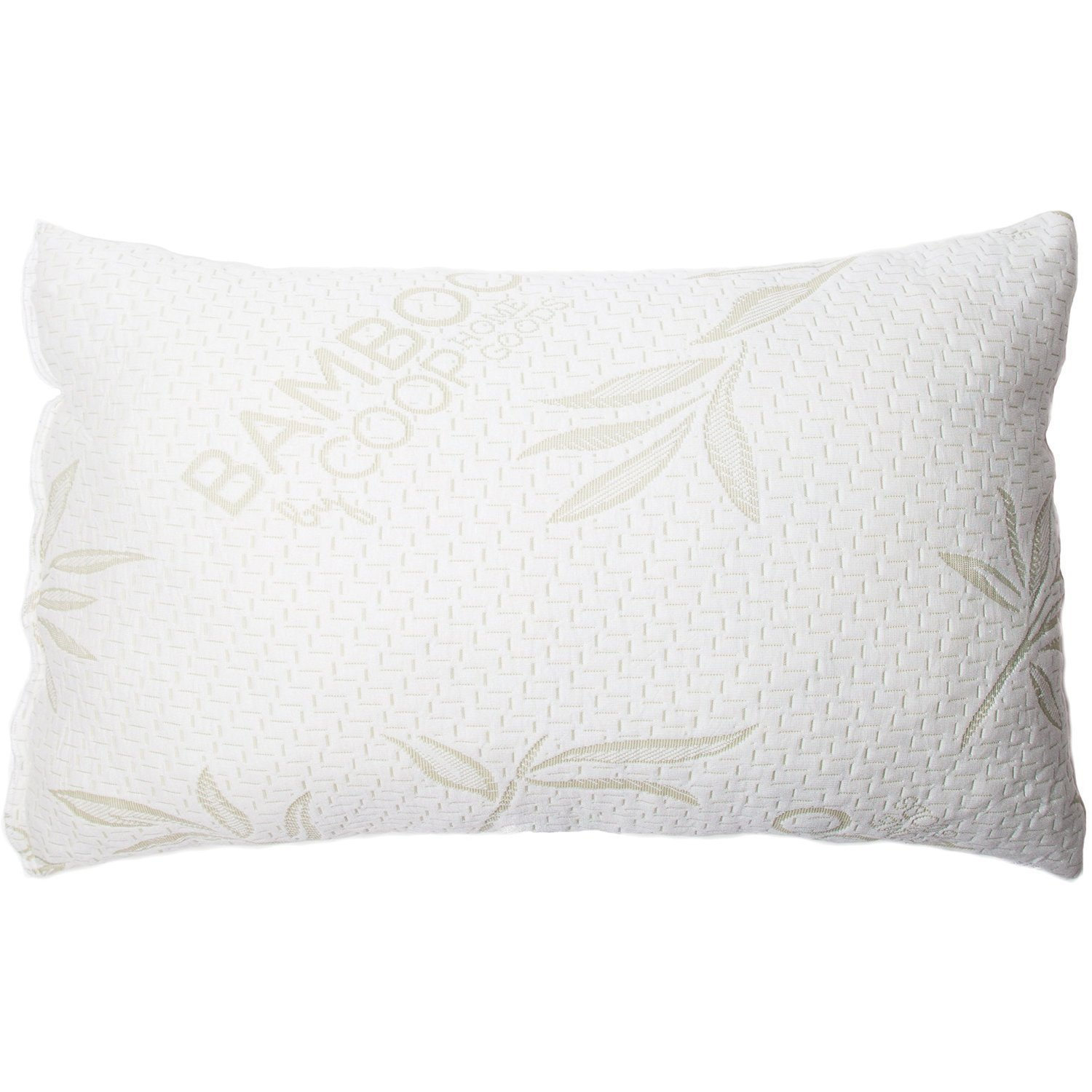 coop home goods shredded memory foam pillow with cover made from bamboo