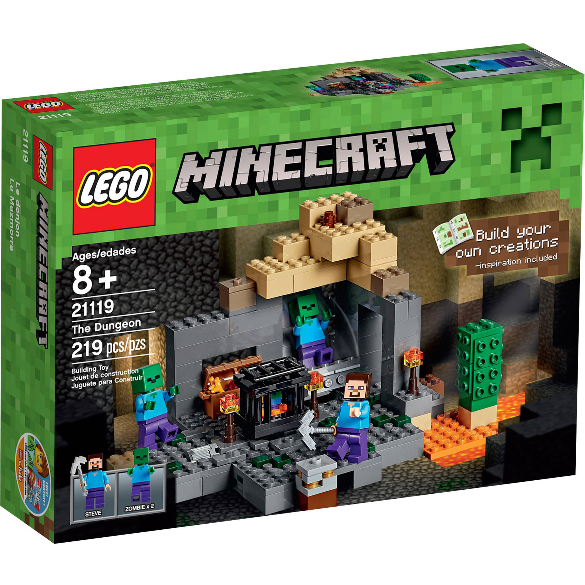 Lego Minecraft The Dungeon, 21119 by LEGO Systems, Inc.