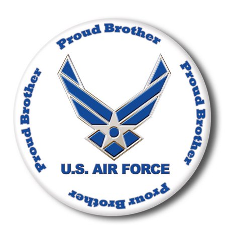 Partypro TQP-3005 Air Force Proud Brother Button
