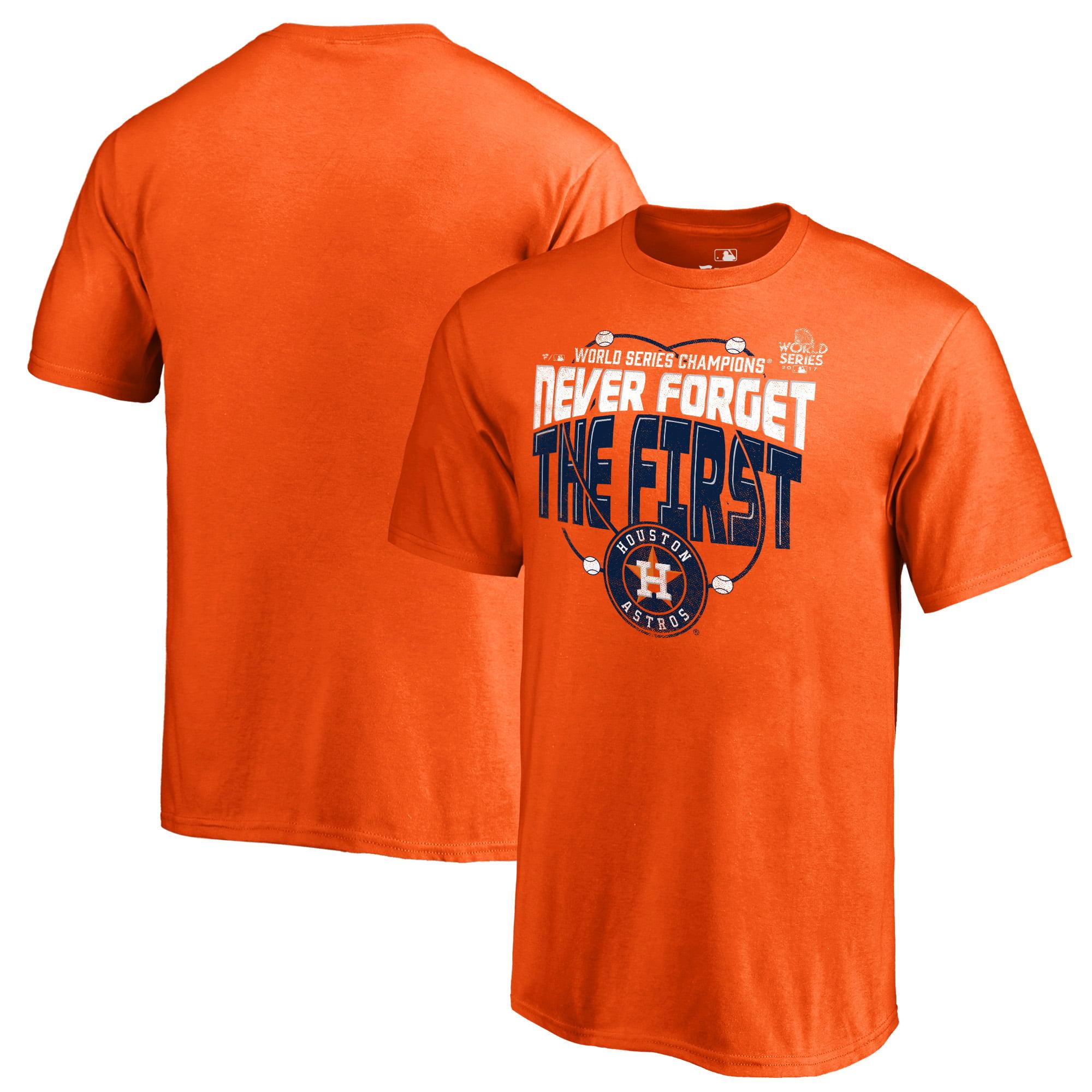 Houston Astros Fanatics Branded Youth 2017 World Series Champions Grandstand T-Shirt - Orange