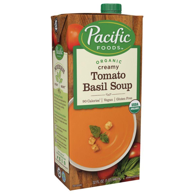 Pacific Foods Organic Vegan Tomato Basil Soup, 32 fl oz