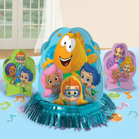 Bubble Guppies Table Decorating Kit (23pc), New 23 Paw Birthday Premium Cinderella Dream Bubble Party Swirls Decorating Hanging and by of Supplies Themed Pack Lovely Room.., By Amscan