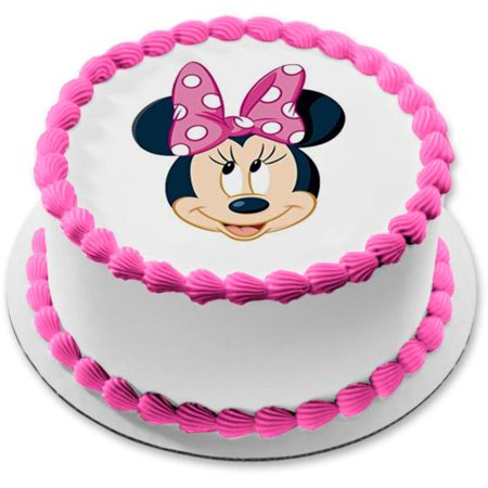 Minnie Mouse Smash Cake (Minnie Mouse Face Edible Frosting  Image Cake Topper - 8